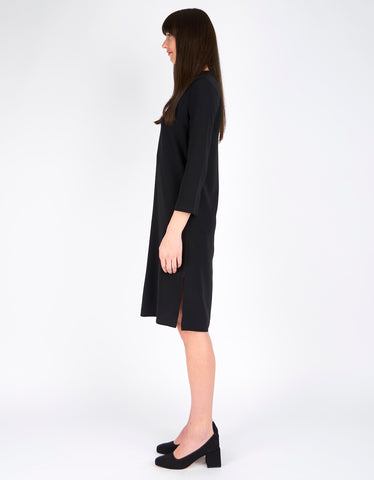 Filippa K Deep V-Neck Dress Black - Still Life - 3