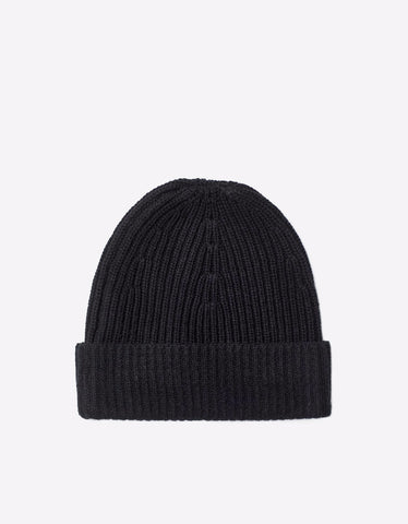 Filippa K Rib Knit Hat Black