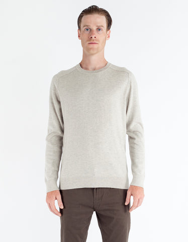 Filippa K Cotton Merino Sweater Mud Melange