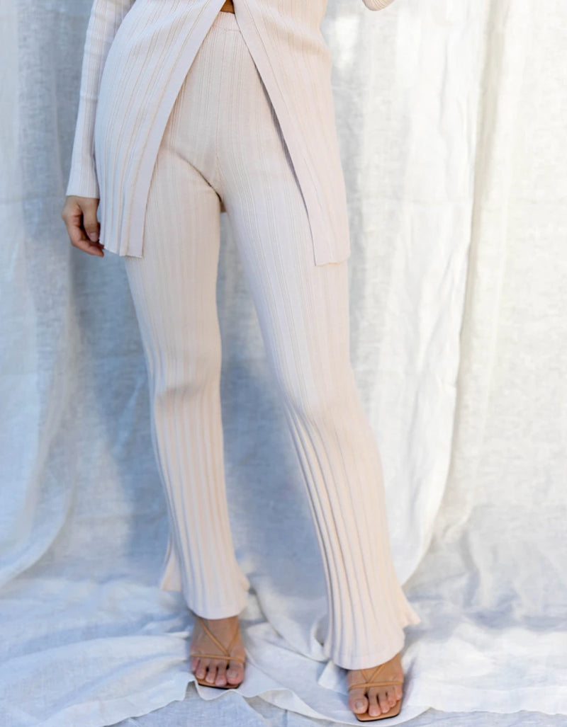 Find Me Now Blakely Knit Pant Oatmeal