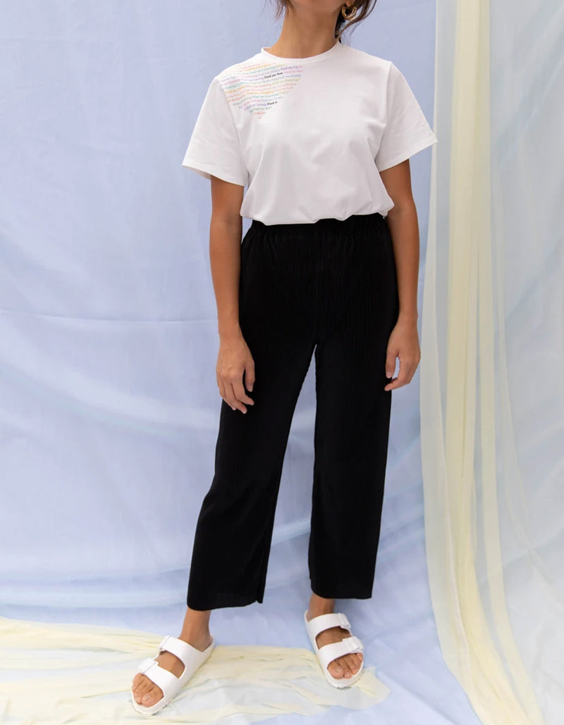Find Me Now Finley Pleated Pant Black