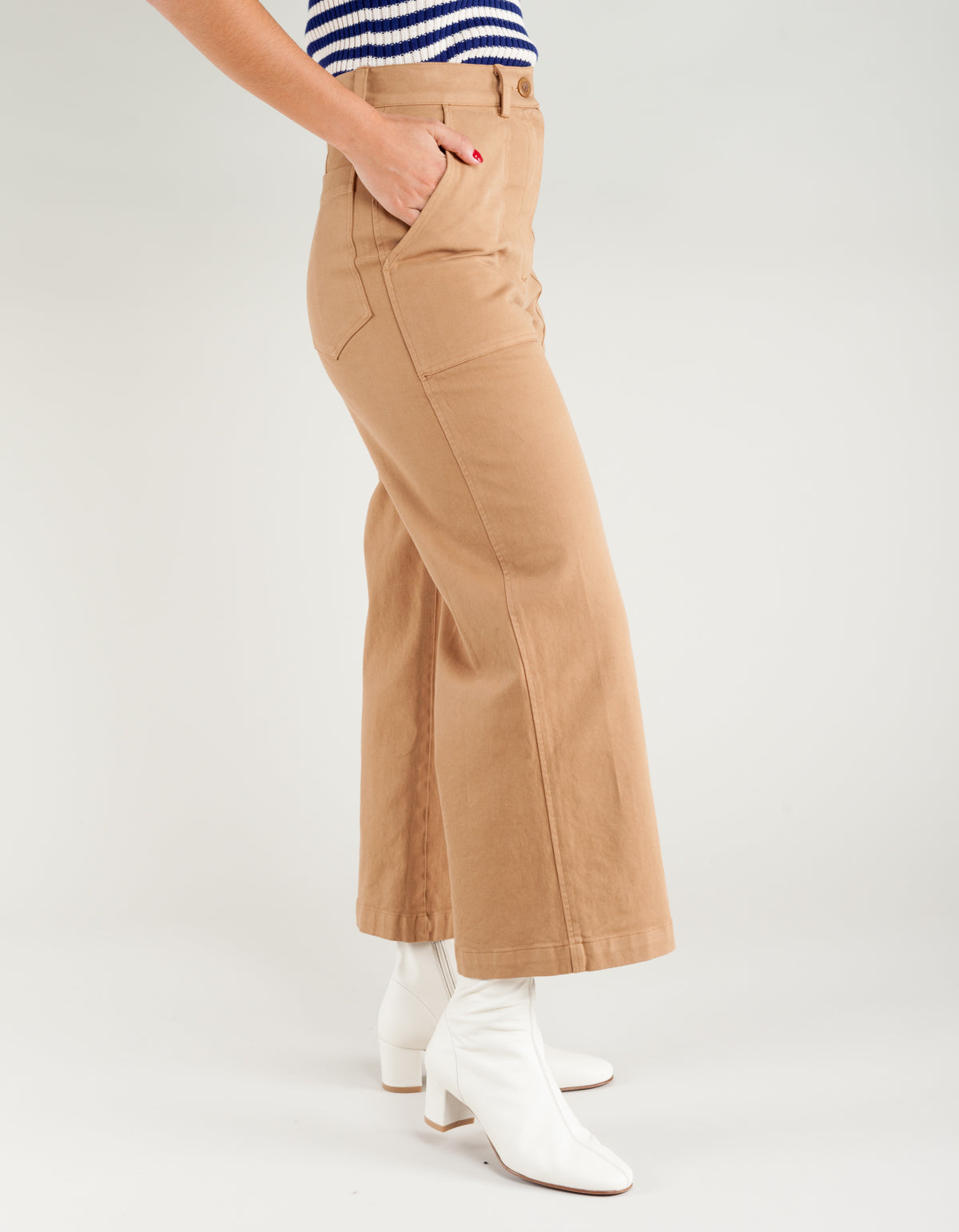 First Rite Cargo Trouser Twill Washed Camel