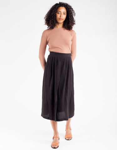 First Rite Pleated Skirt Black