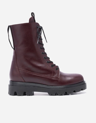 Flattered Lovi Leather Boot in Burgundy