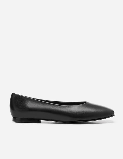 Flattered Nikki Slip On Black Leather