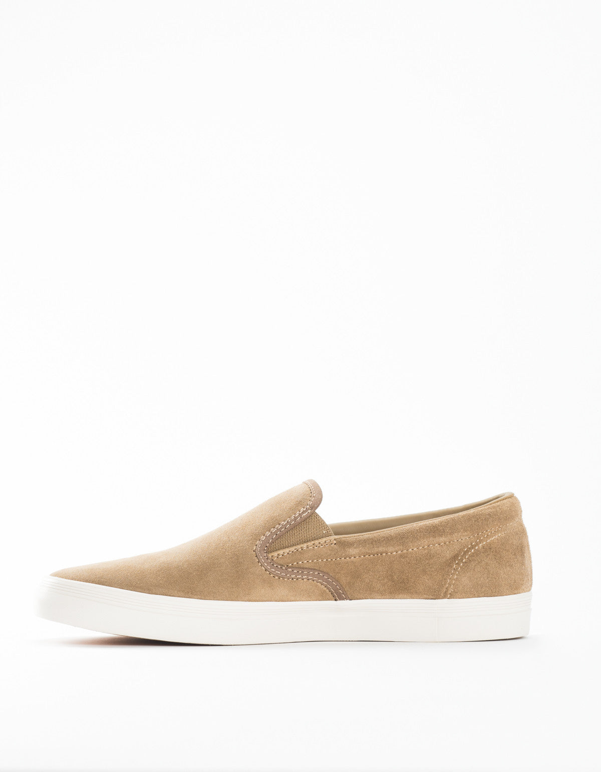 Fred Perry Underspin Slip On Suede Almond