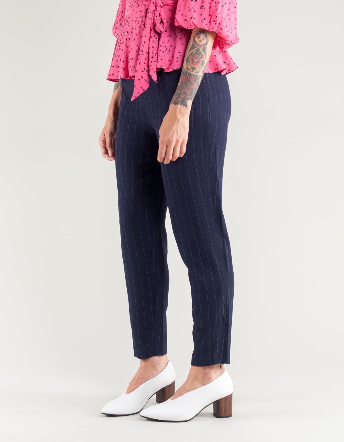 Ganni Clark Pants Total Eclipse