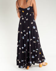 Ganni Dainty Georgette Dress Black