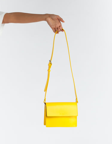 Ganni Gallery Bag Lemon