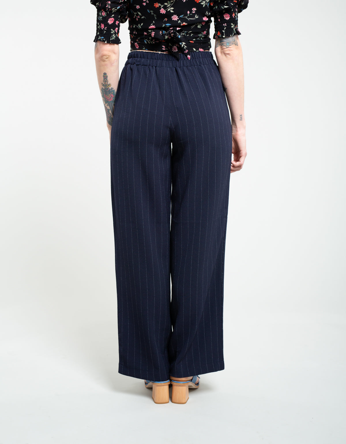 Ganni Heavy Crepe Wide Pants Total Eclipse
