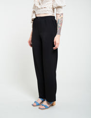 Ganni Heavy Crepe Wide Pants Black