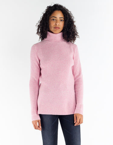 Ganni Mercer Rollneck Sea Pink