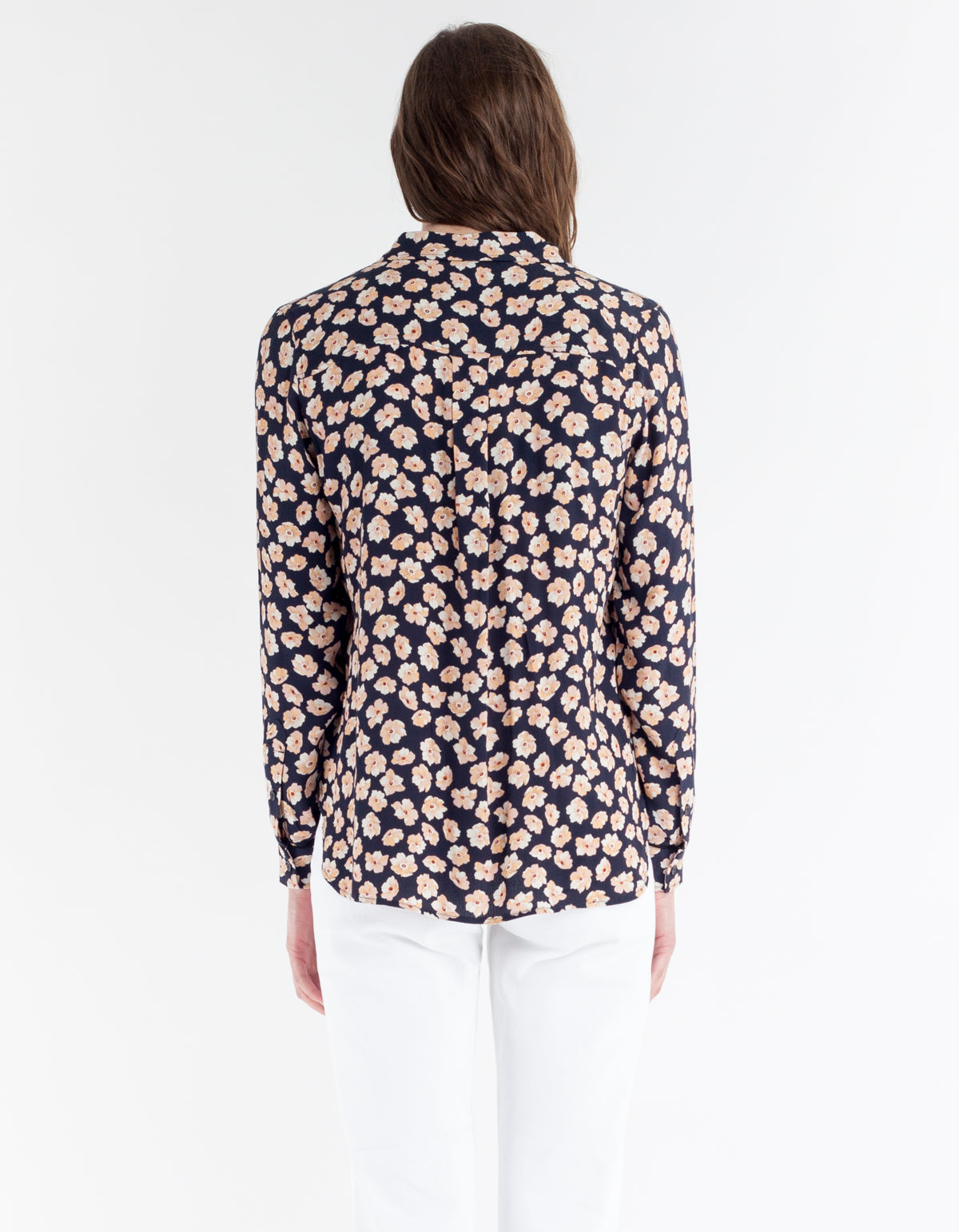 Ganni Montrose Crepe Shirt Total Eclipse
