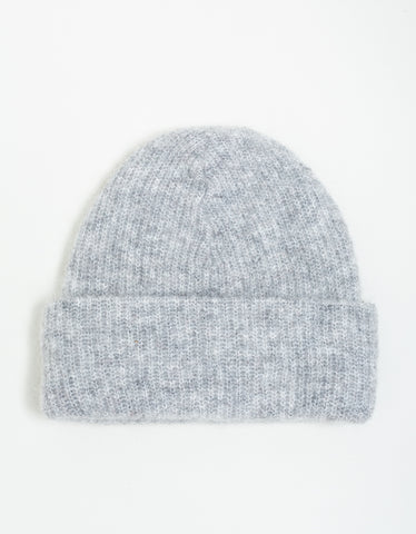 Ganni Soft Wool Knit Hat Paloma Melange