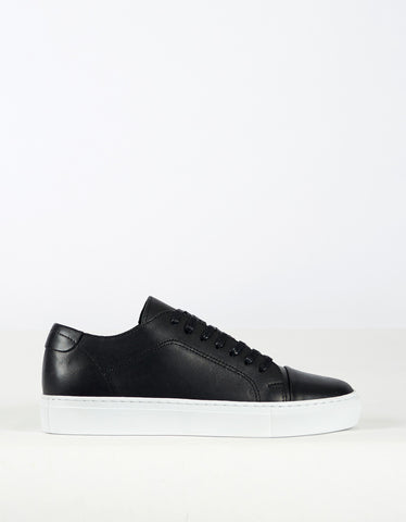 Garment Project Classic Lace Sneaker Black - Still Life - 1