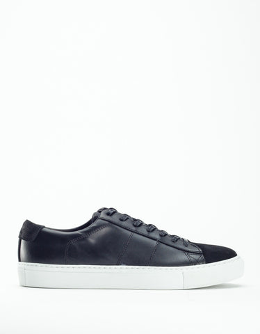 Garment Project Ace Sneaker Black Leather Suede