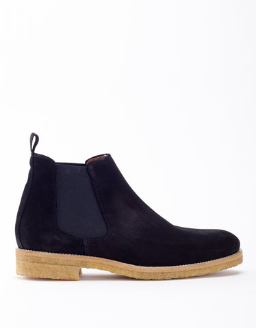 Garment Project Chelsea Boot Black Suede