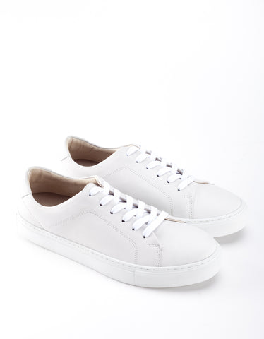 Garment Project New Classic Lace Sneaker White Leather