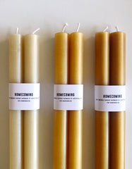 Homecoming Beeswax Candle Natural