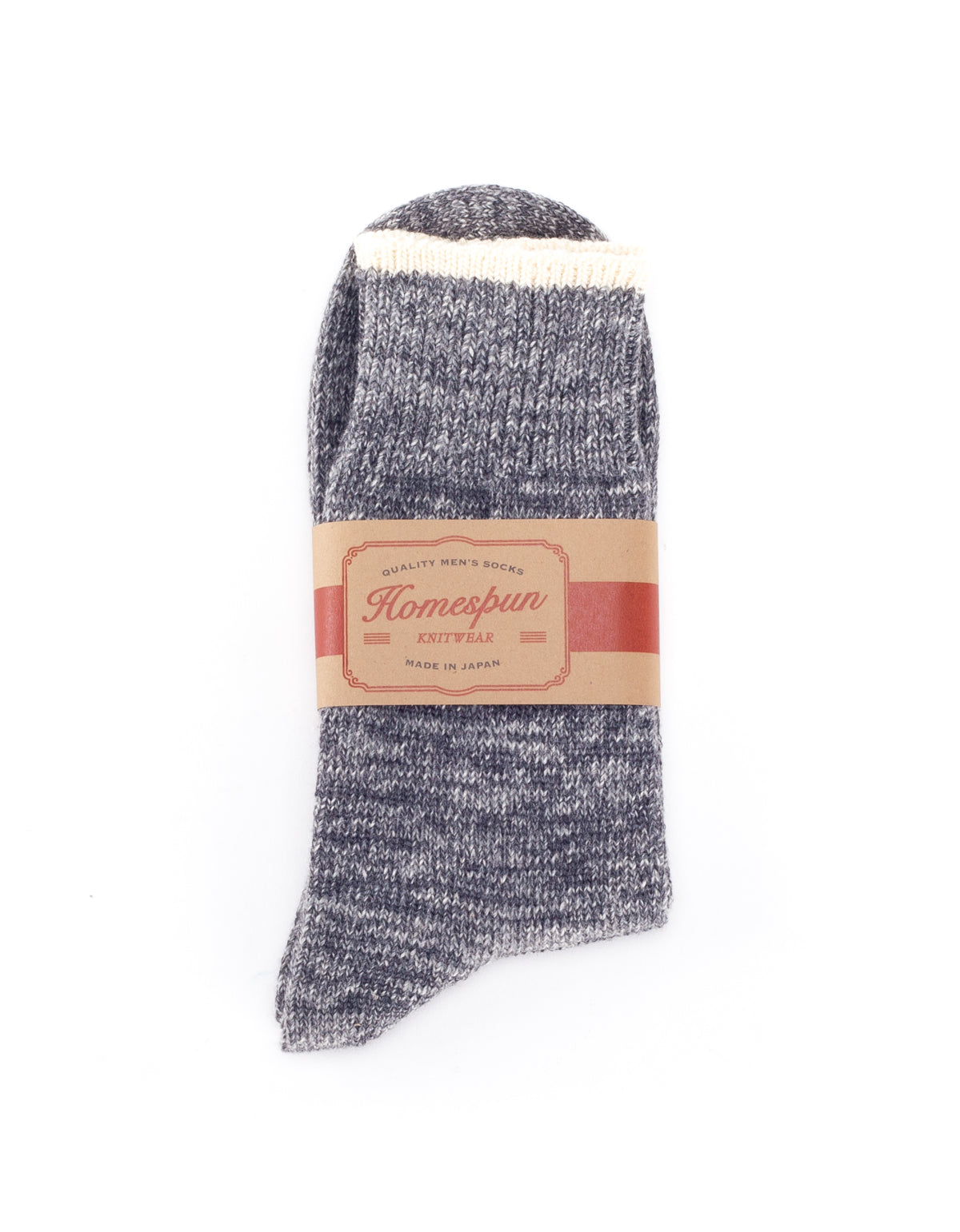 Homespun Knitwear Top Stripe Sock Charcoal