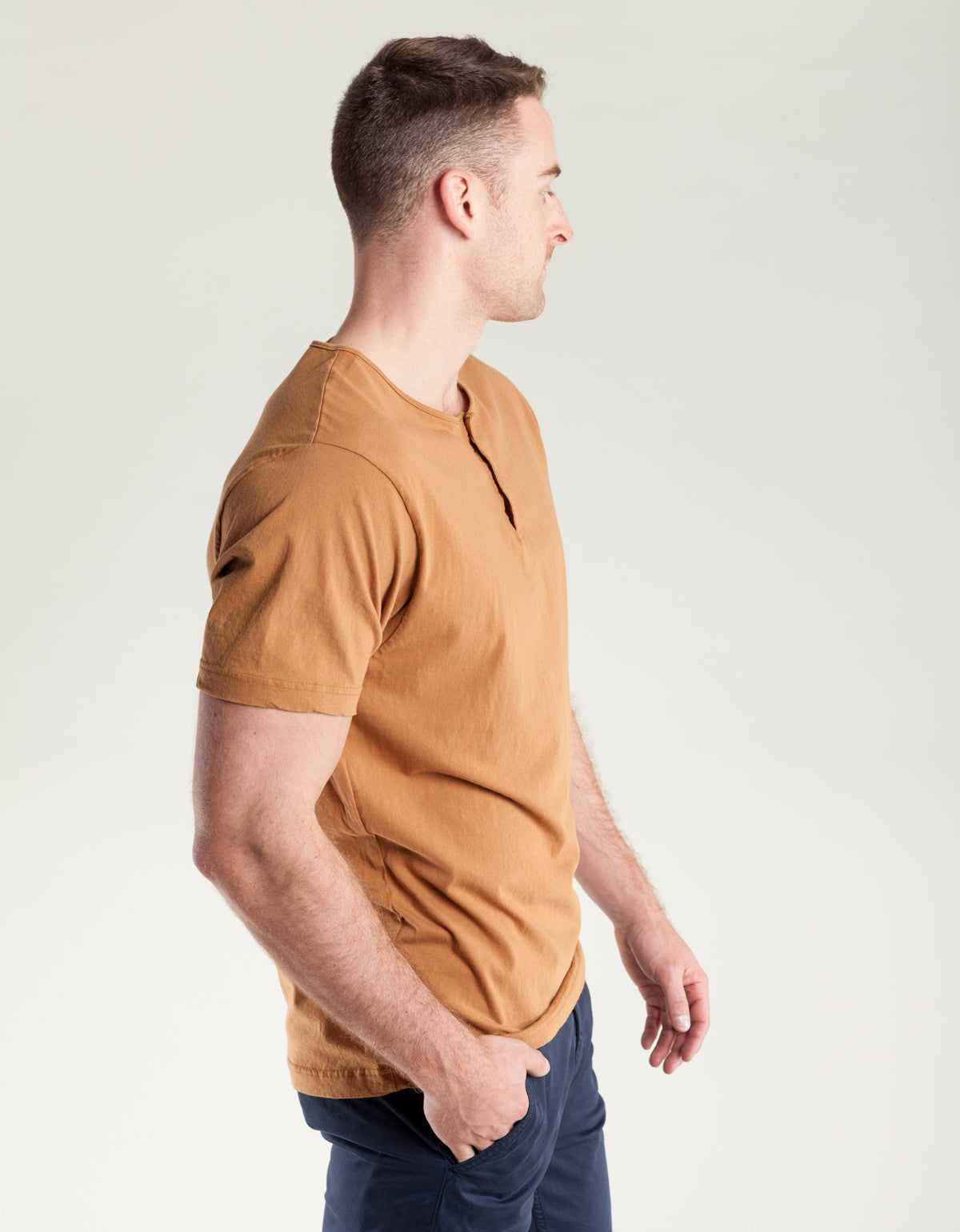 Homespun Knitwear Great Plains Tee Tobacco