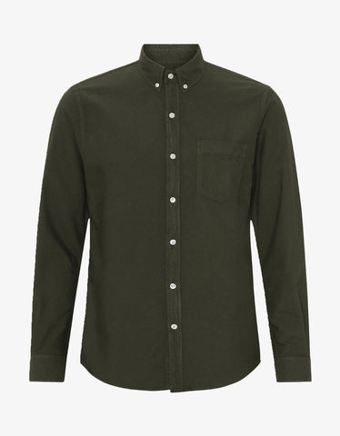 Colorful Standard Organic Button Down Shirt in Hunter Green