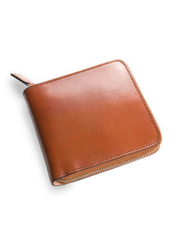 Il Bussetto Square Zip Wallet Light Brown