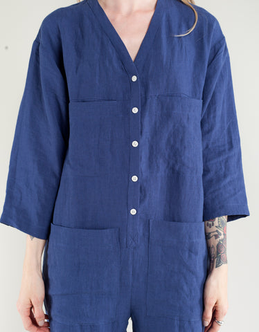 Ilana Kohn Tuck Coverall Royal