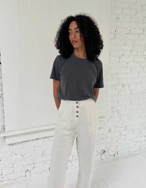Indi & Cold Button Front Pant in Crudo