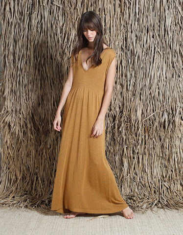 Indi & Cold Knit Maxi Dress Canela
