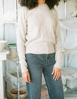 Indi & Cold Vintage Inspired Sweater with Overlock Beige