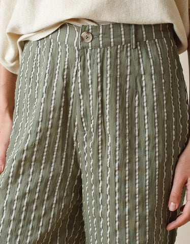 Indi & Cold Striped Trouser Khaki
