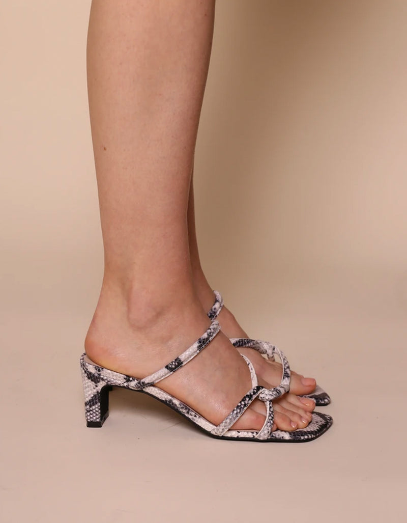 Intentionally Blank Willow Sandal Grey Python
