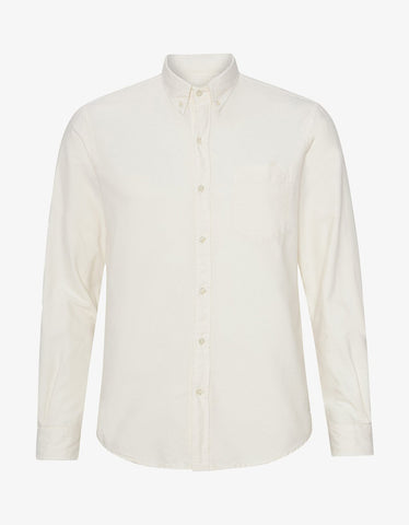 Colorful Standard Organic Button Down Shirt in Ivory White