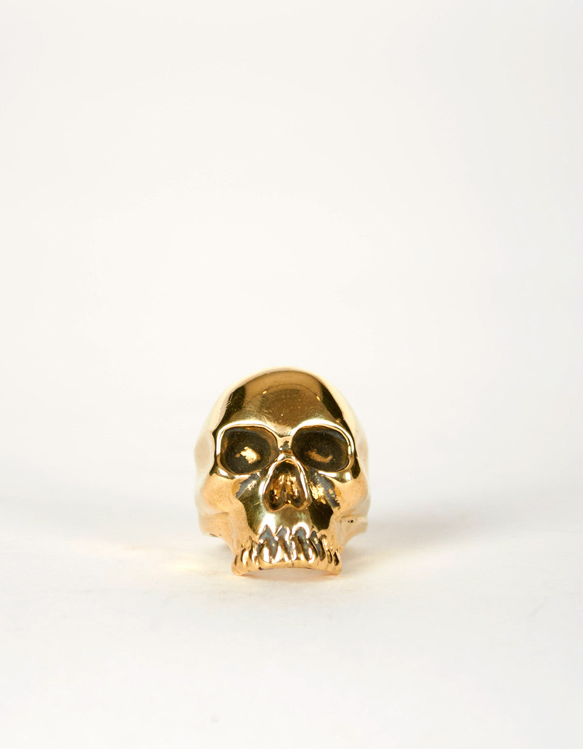 Jon Swinamer Skull Ring Bronze - Still Life - 5