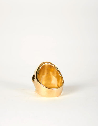 Jon Swinamer Skull Ring Bronze - Still Life - 2