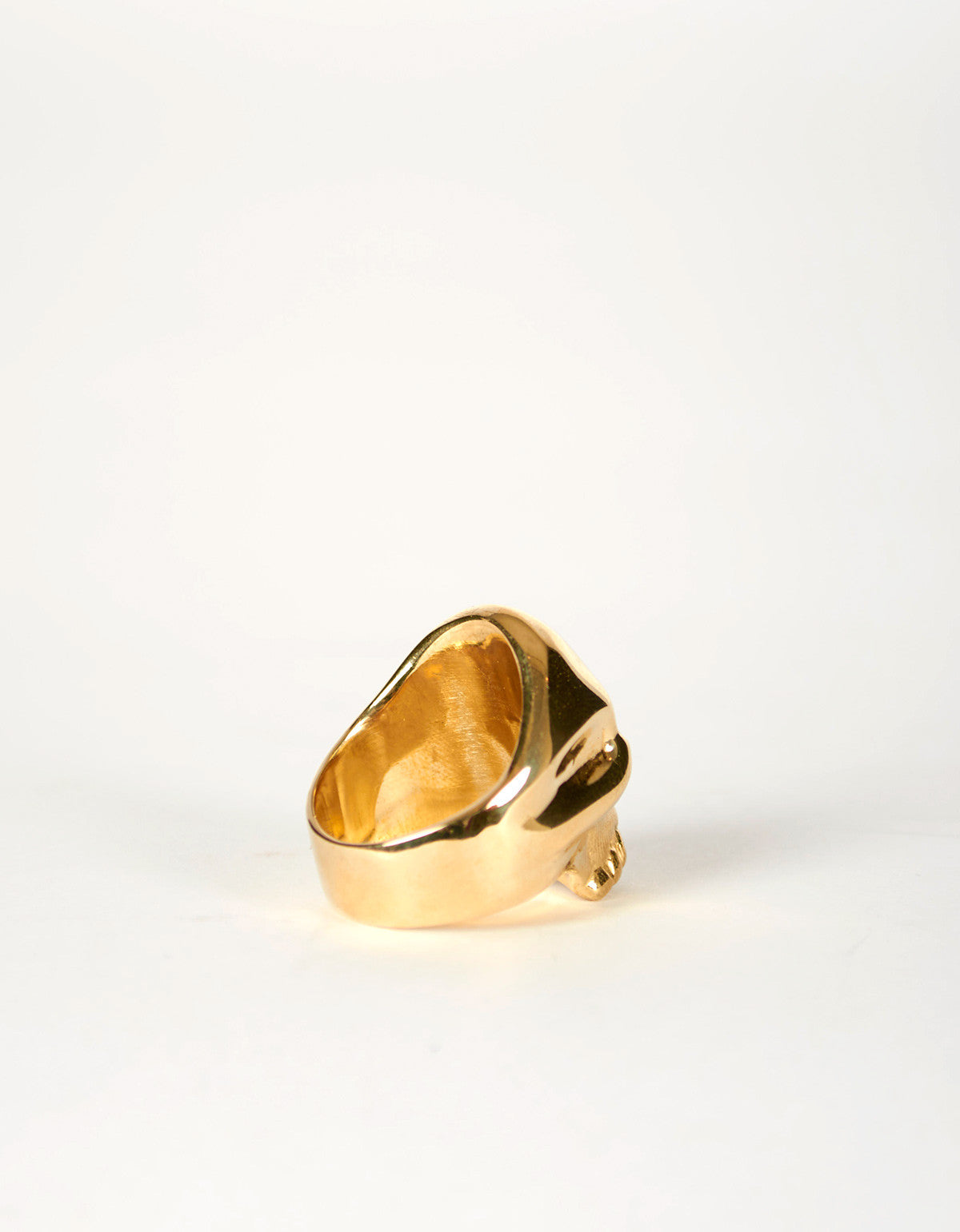 Jon Swinamer Skull Ring Bronze - Still Life - 3