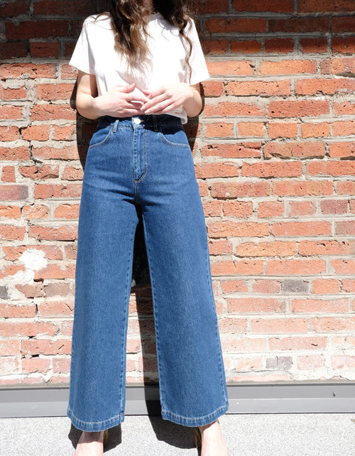 Just Female Calm Jeans in Mid Blue