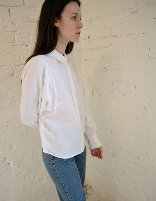 Just Female Collin Shirt in White