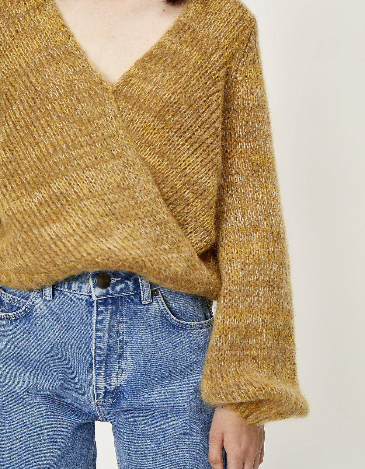 Just Female Dolly Wrap Knit, Nature Combo