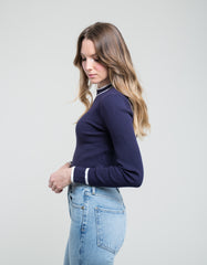Just Female Ebba Knit Blue Iris