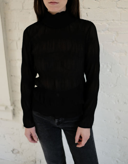 Just Female Kifi Rollneck Blouse in Black