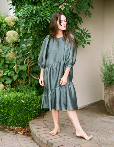 Just Female Mae Dress Balsam Green