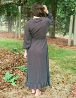 Just Female Niro Maxi Dress Black Mini Dot