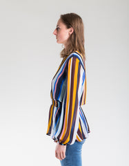 Just Female Romain Blouse Multi Stripe AOP