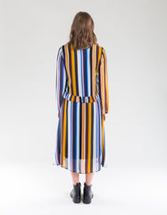 Just Female Romain Dress Multi Stripe AOP