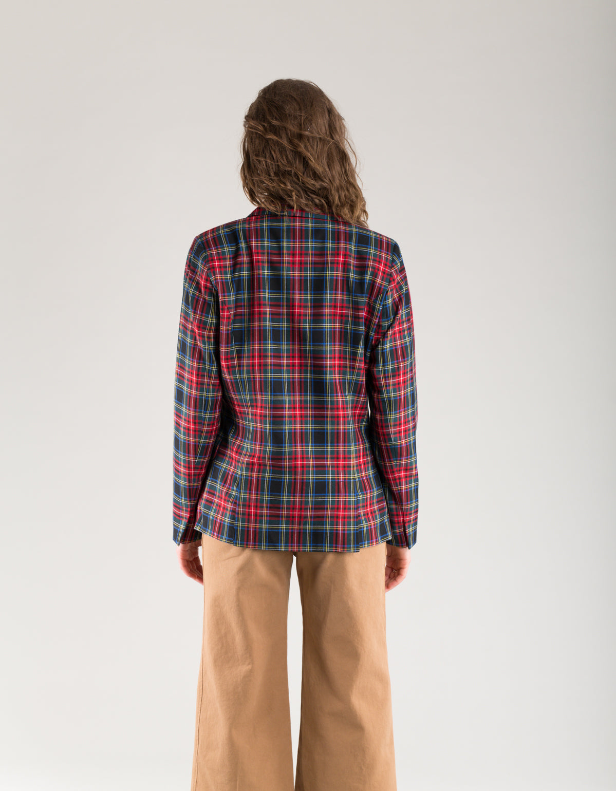 Just Female Sinclair Blazer Red Check