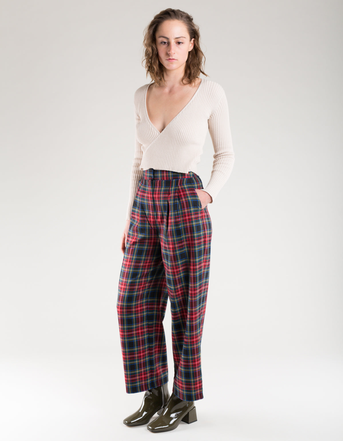 Just Female Sinclair Trousers Red Check