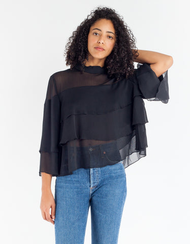 Just Female Aika Blouse Black