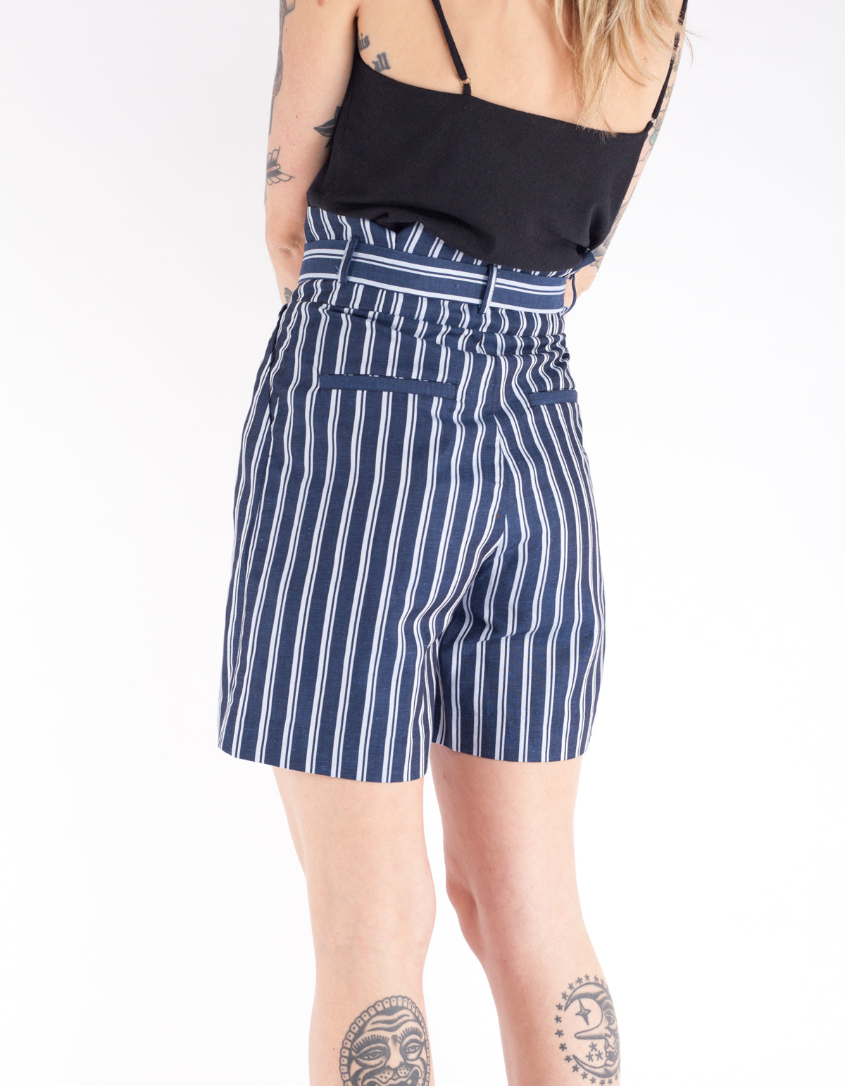 Just Female Anny Shorts Blue Stripe